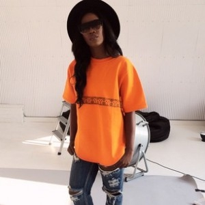[PHOTO]: 0 TO 100! Rate Tiwa Savage's 'ORANGE IS THE NEW BLACK' & Ripped Jean Outfit